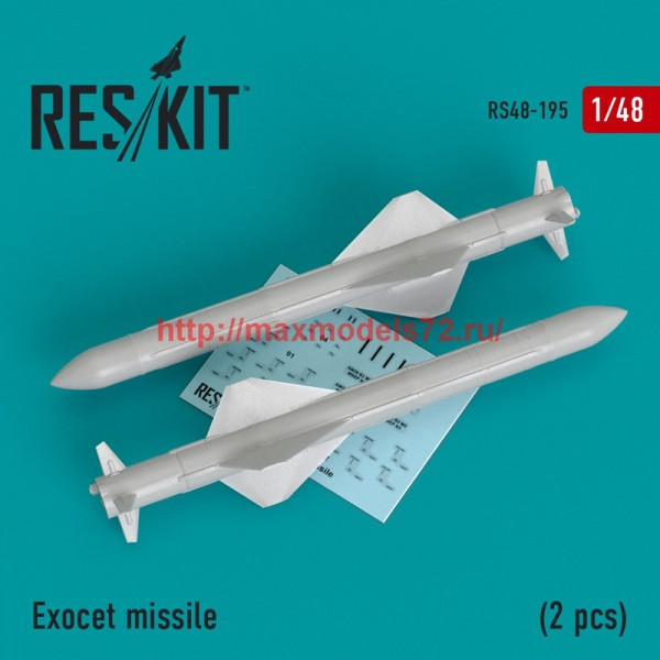 RS48-0195   Exocet missile  (2 PCS) (Super Etendart, Mirage 2000) (thumb44969)