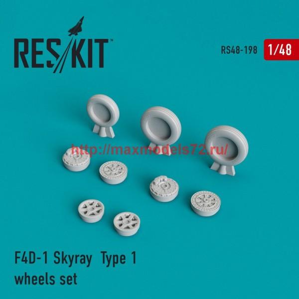 RS48-0198   F4D-1 Skyray  Type 1 wheels set (thumb44973)