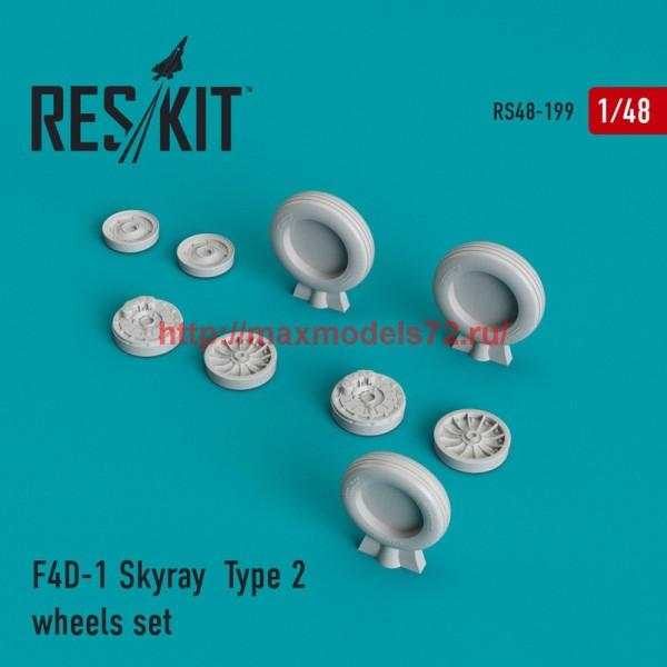 RS48-0199   F4D-1 Skyray  Type 2 wheels set (thumb44975)