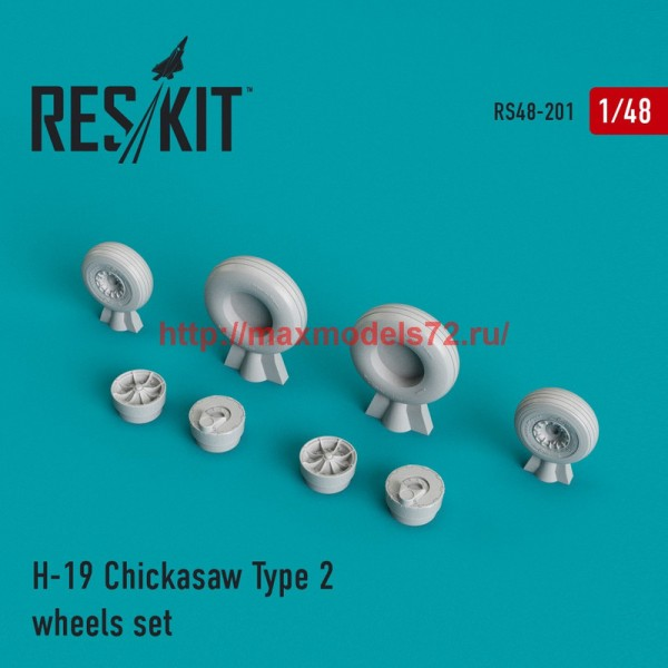RS48-0201   H-19 Chickasaw Type 2 wheels set (thumb44979)