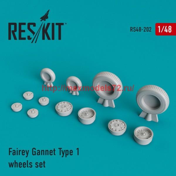 RS48-0202   Fairey Gannet Type 1 wheels set (thumb44981)