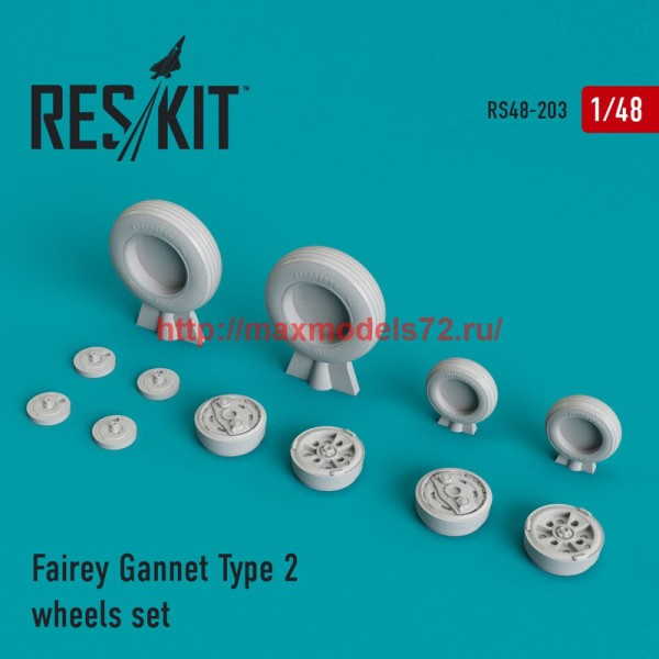 RS48-0203   Fairey Gannet Type 2 wheels set (thumb44983)