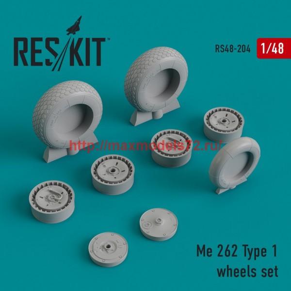 RS48-0204   Me.262 Type 1 wheels set (thumb44985)