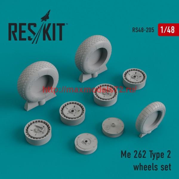 RS48-0205   Me.262 Type 2 wheels set (thumb44987)