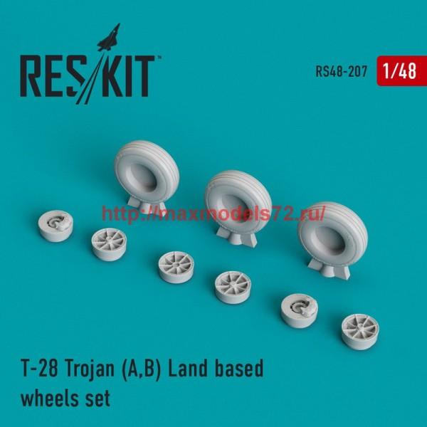 RS48-0207   T-28 Trojan (A,B) Land based wheels set (thumb44991)