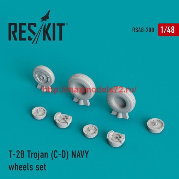 RS48-0208   T-28 Trojan (C-D) NAVY wheels set (thumb44993)