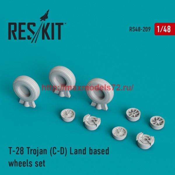 RS48-0209   T-28 Trojan (C-D) Land based wheels set (thumb44995)