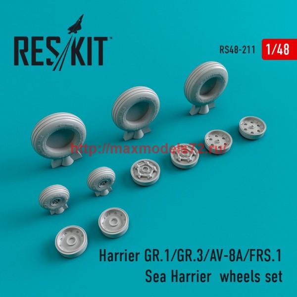 RS48-0211   Harrier GR.1/GR.3/AV-8A/FRS.1/Sea Harrier  wheels set (thumb44999)
