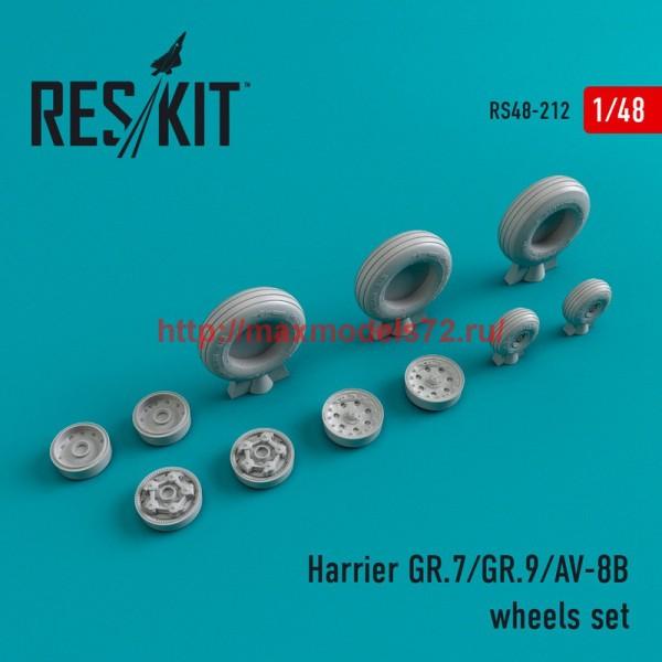 RS48-0212   Harrier GR.7/GR.9/AV-8B wheels set (thumb45001)