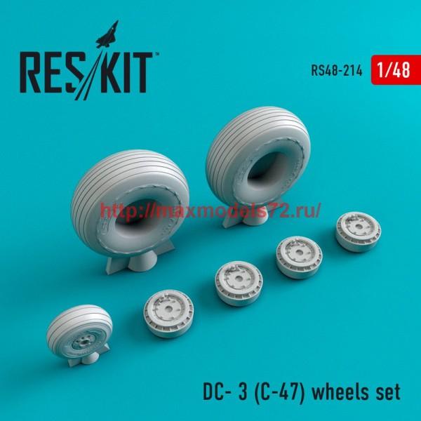 RS48-0214   DC- 3 (C-47) wheels set (thumb45003)