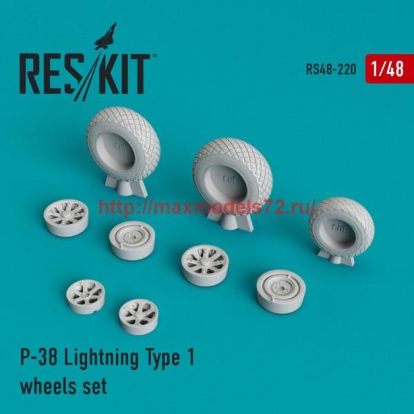 RS48-0220   P-38 Lightning Type 1 wheels set (thumb45017)