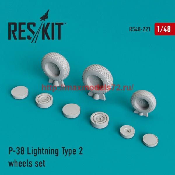 RS48-0221   P-38 Lightning Type 2 wheels set (thumb45019)