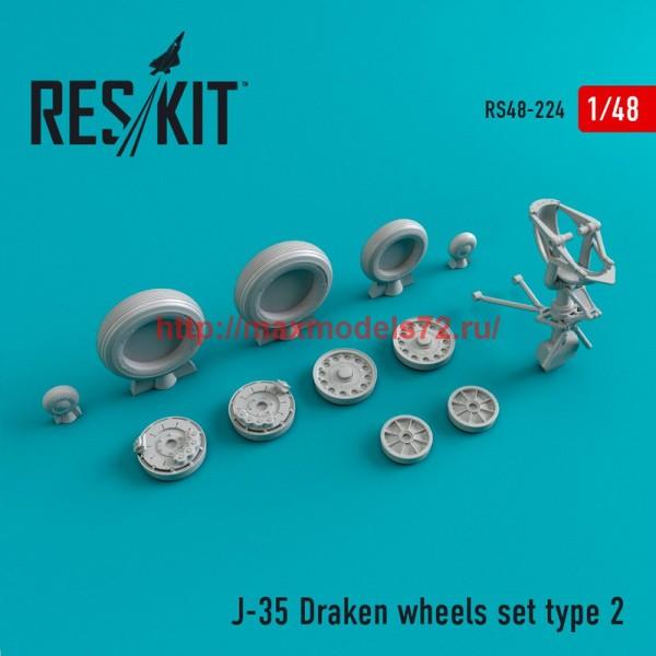RS48-0224   J-35 Draken Type 2 wheels set (thumb45025)