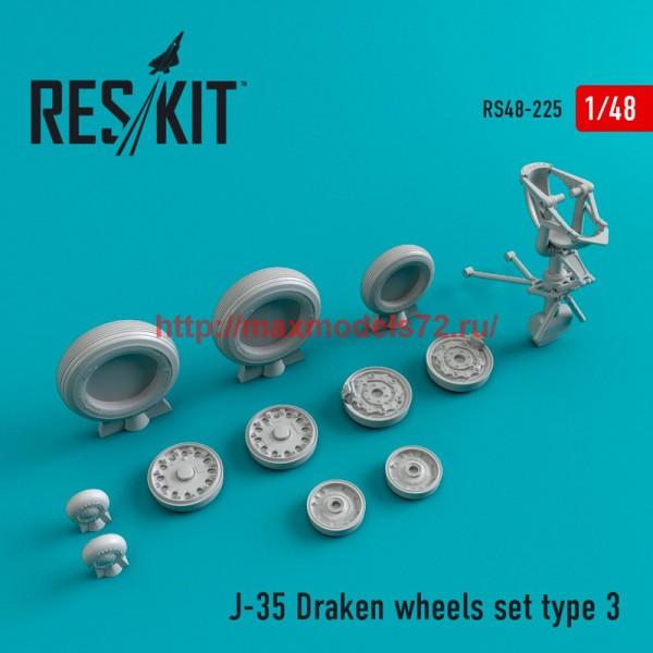 RS48-0225   J-35 Draken Type 3 wheels set (thumb45027)