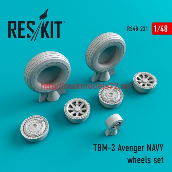 RS48-0231   TBM-3 Avenger NAVY wheels set (thumb45033)