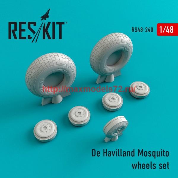 RS48-0240   De Havilland Mosquito wheels set (thumb45035)