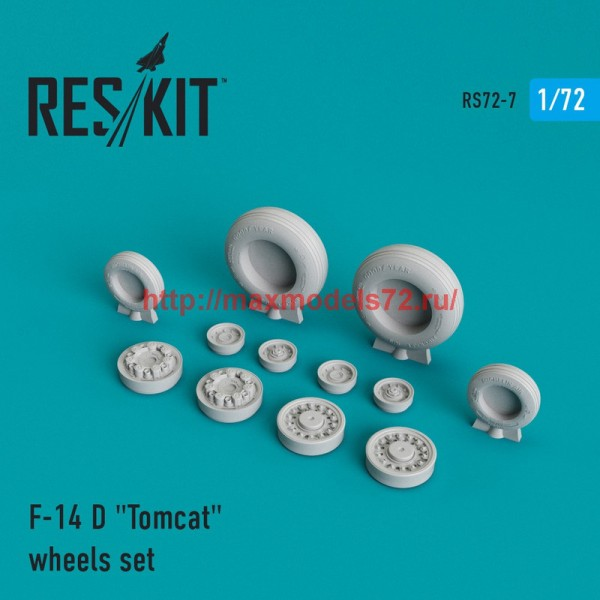 "RS72-0007   F-14 (D) ""Tomcat"" wheels set (thumb43951)"