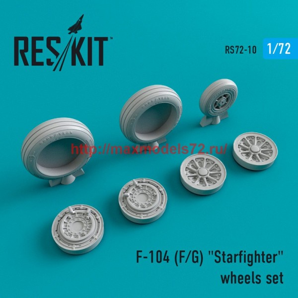 """RS72-0010   F-104 (F/G) """"Starfighter"""" wheels set (thumb43957)"""