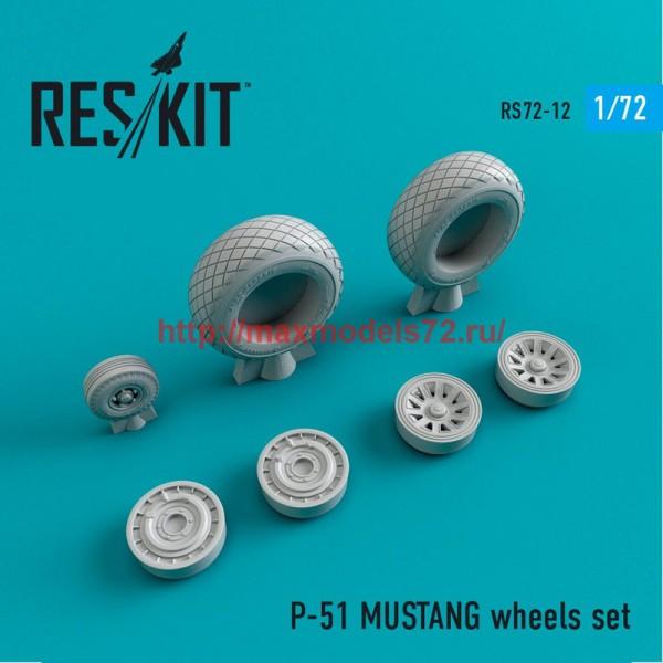 RS72-0012   P-51 MUSTANG wheels set (thumb43961)