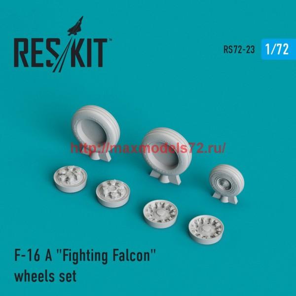"RS72-0023   General Dynamics F-16 (A) ""Fighting Falcon"" wheels set (thumb43983)"