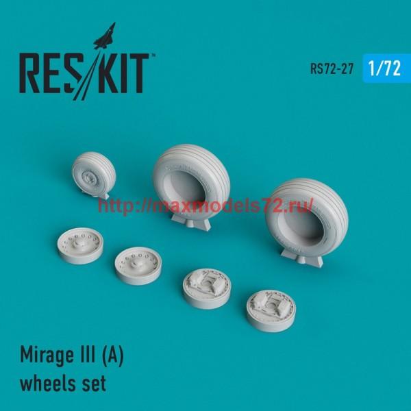 RS72-0027   Dassault Mirage III (A) wheels set (thumb43991)