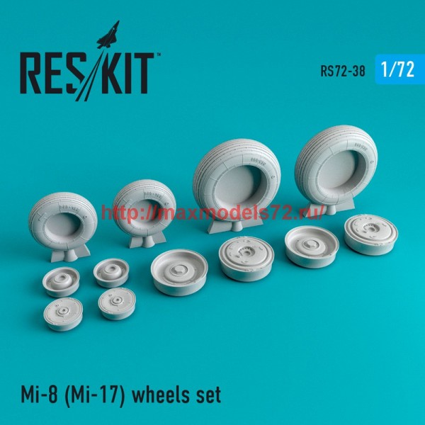 RS72-0038   Mi-8 (Mi-17) wheels set (thumb44013)