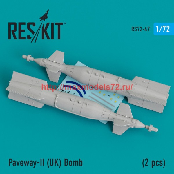RS72-0047   Paveway-II (UK) Bomb (2 pcs) (Tornado, Eurofighter,Buccaneer, Harrier ) (thumb44031)