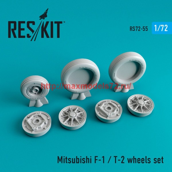 RS72-0055   Mitsubishi F-1 / T-2 wheels set (thumb44047)
