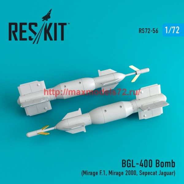 RS72-0056   BGL-400 Laser guided bomb (2 pcs)  (Mirage F.1, Mirage 2000, Sepecat Jaguar) (thumb44049)