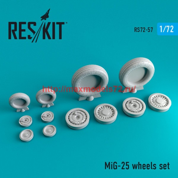 RS72-0057   MiG-25 wheels set (thumb44051)