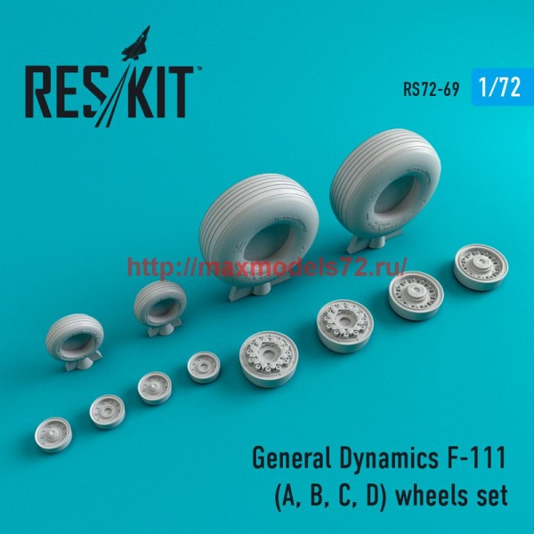 RS72-0069   General Dynamics F-111 (A, B, C, D)  wheels set (thumb44075)