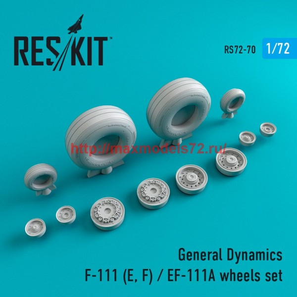 RS72-0070   General Dynamics F-111 (E, F) / EF-111A  wheels set (thumb44077)