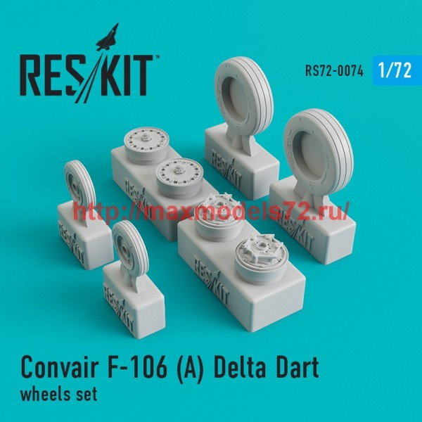 RS72-0074   Convair F-106 (А) Delta Dart wheels set (thumb44084)