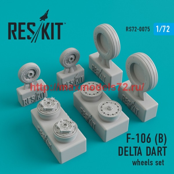 RS72-0075   Convair F-106 (B) Delta Dart wheels set (thumb44086)