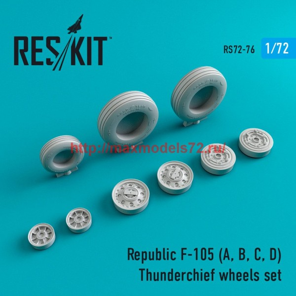 RS72-0076   Republic F-105 (A, B, C, D) Thunderchief wheels set (thumb44088)