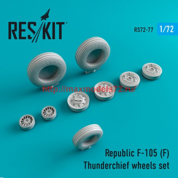 RS72-0077   Republic F-105 (F) Thunderchief wheels set (thumb44090)