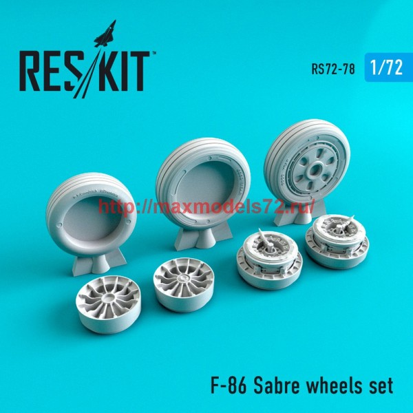 RS72-0078   North American F-86 Sabre wheels set (thumb44092)