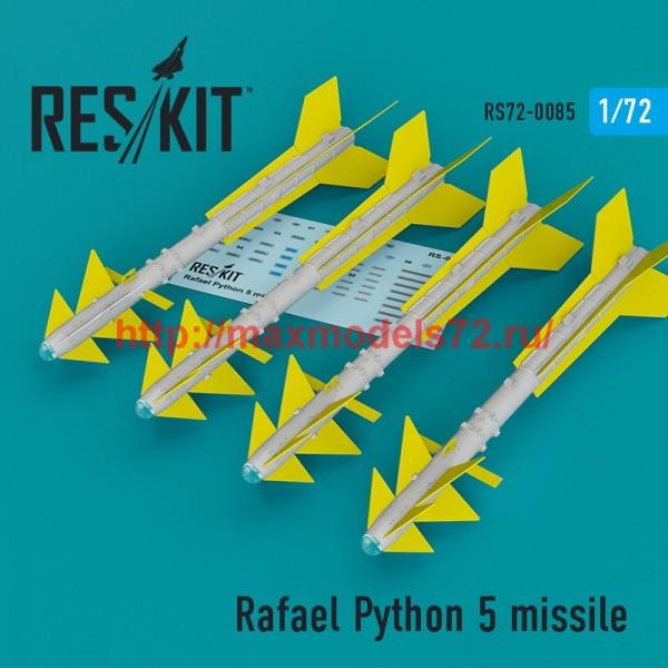 RS72-0085   Rafael Python 5 missile (4 pcs)  (F-16I, F-16D, F-15I, Mirage F.1) (thumb44105)