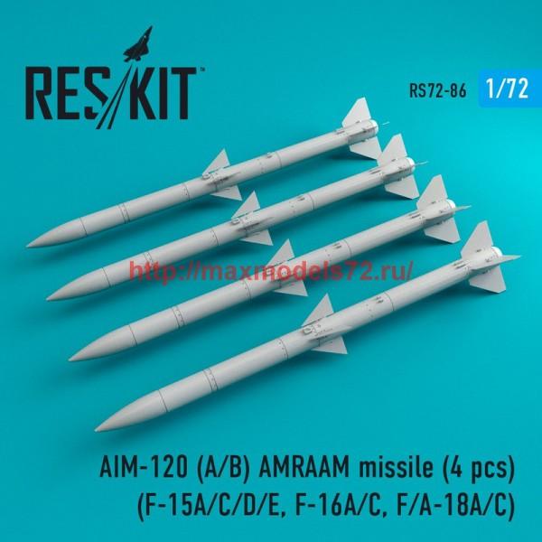 RS72-0086   AIM-120 (A/B) AMRAAM missile (4 pcs) (F-15A/C/D/E, F-16A/C, F/A-18A/C) (thumb44107)