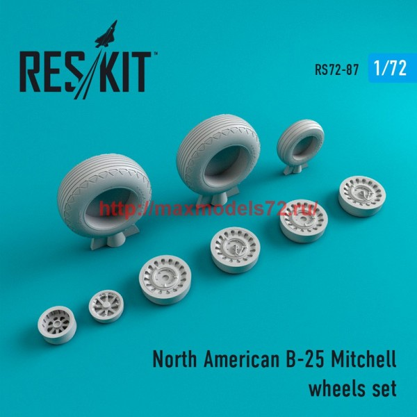RS72-0087   North American B-25 Mitchell wheels set (thumb44109)