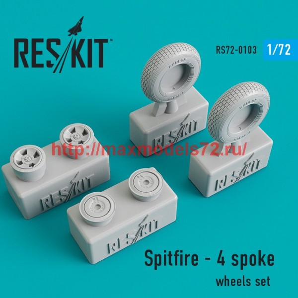 RS72-0103   Spitfire - 4 spoke wheels set (thumb44144)