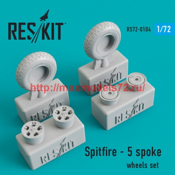 RS72-0104   Spitfire - 5 spoke wheels set (thumb44146)