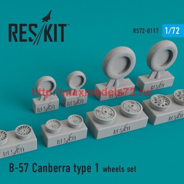 RS72-0117   B-57 Canberra type 1 wheels set (thumb44174)