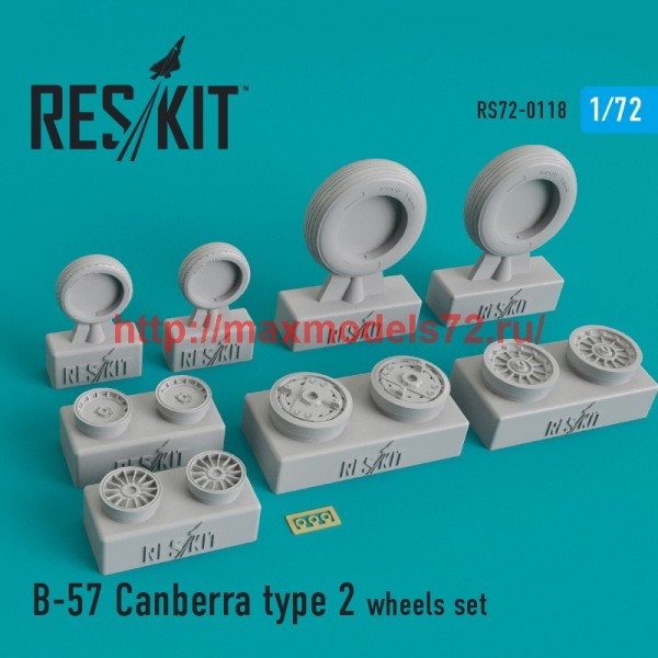 RS72-0118   B-57 Canberra type 2 wheels set (thumb44176)
