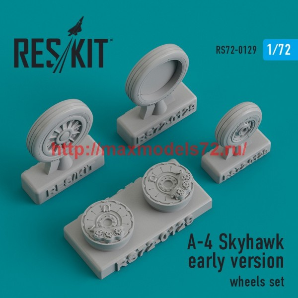 RS72-0129   A-4 Skyhawk early version wheels set (thumb44198)