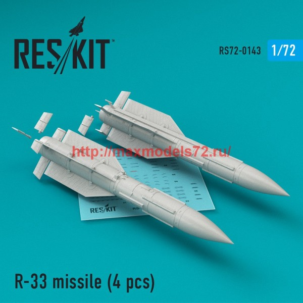 RS72-0143   R-33 missile (4 pcs) (MiG-31) (thumb44224)