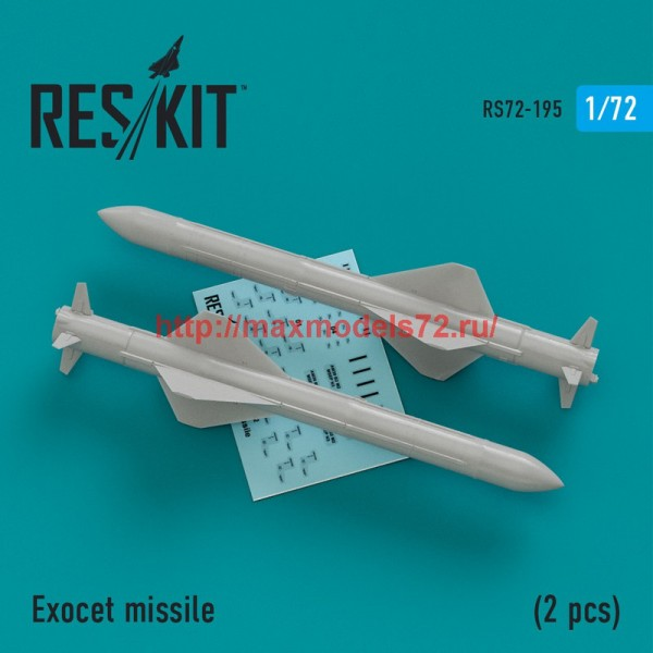 RS72-0195   Exocet missile  (2 PCS) Super Etendart, Mirage 2000 (thumb44318)