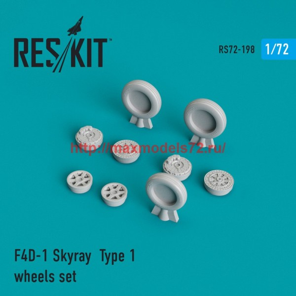 RS72-0198   F4D-1 Skyray  Type 1 wheels set (thumb44324)
