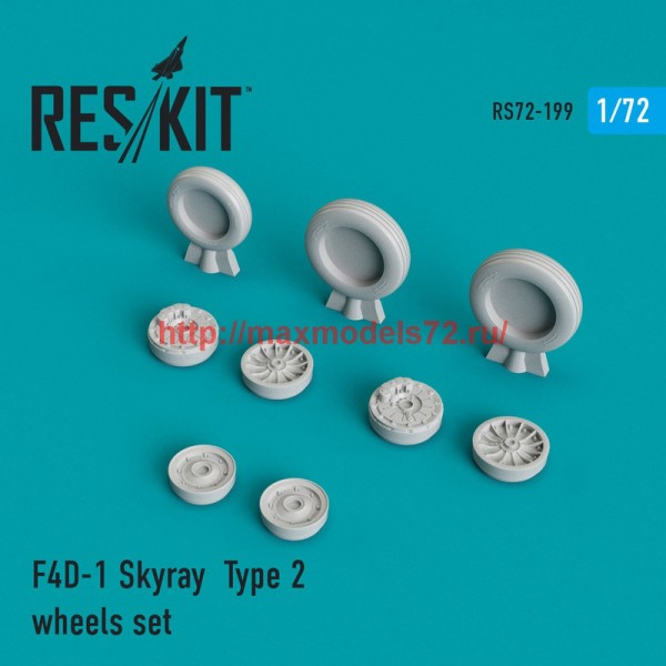 RS72-0199   F4D-1 Skyray  Type 2 wheels set (thumb44326)