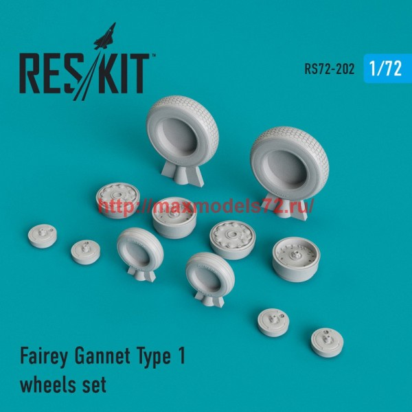 RS72-0202   Fairey Gannet Type 1 wheels set (thumb44332)